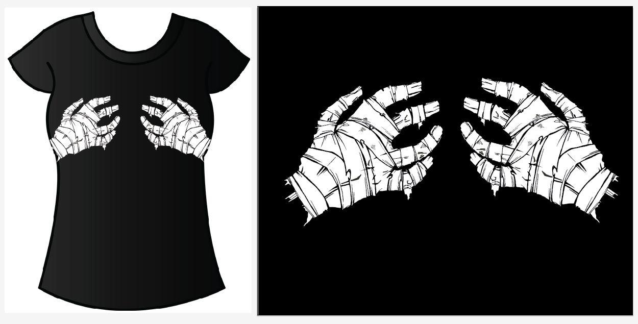 1ea8d7766 Mummy Hands T-Shirt Commisshie by dear-lanie on DeviantArt
