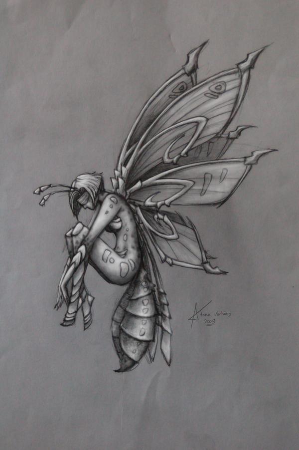 Insect girl by Myrmirada