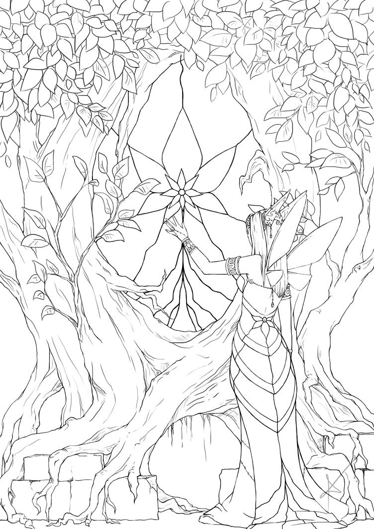 tree of life lineart by Myrmirada on DeviantArt