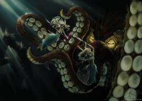 battle for the reef by Myrmirada