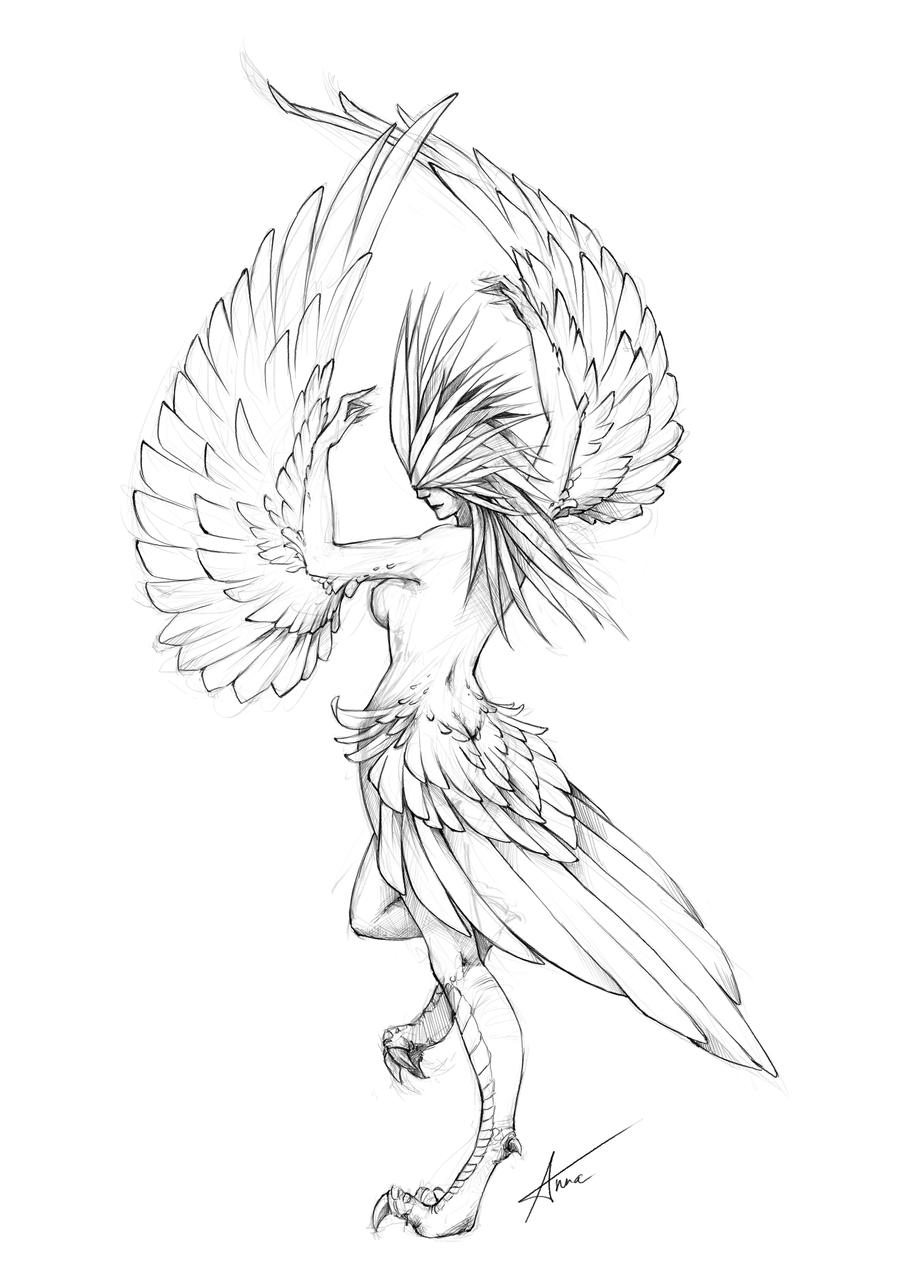 Monster 1 Harpy By Myrmirada On Deviantart
