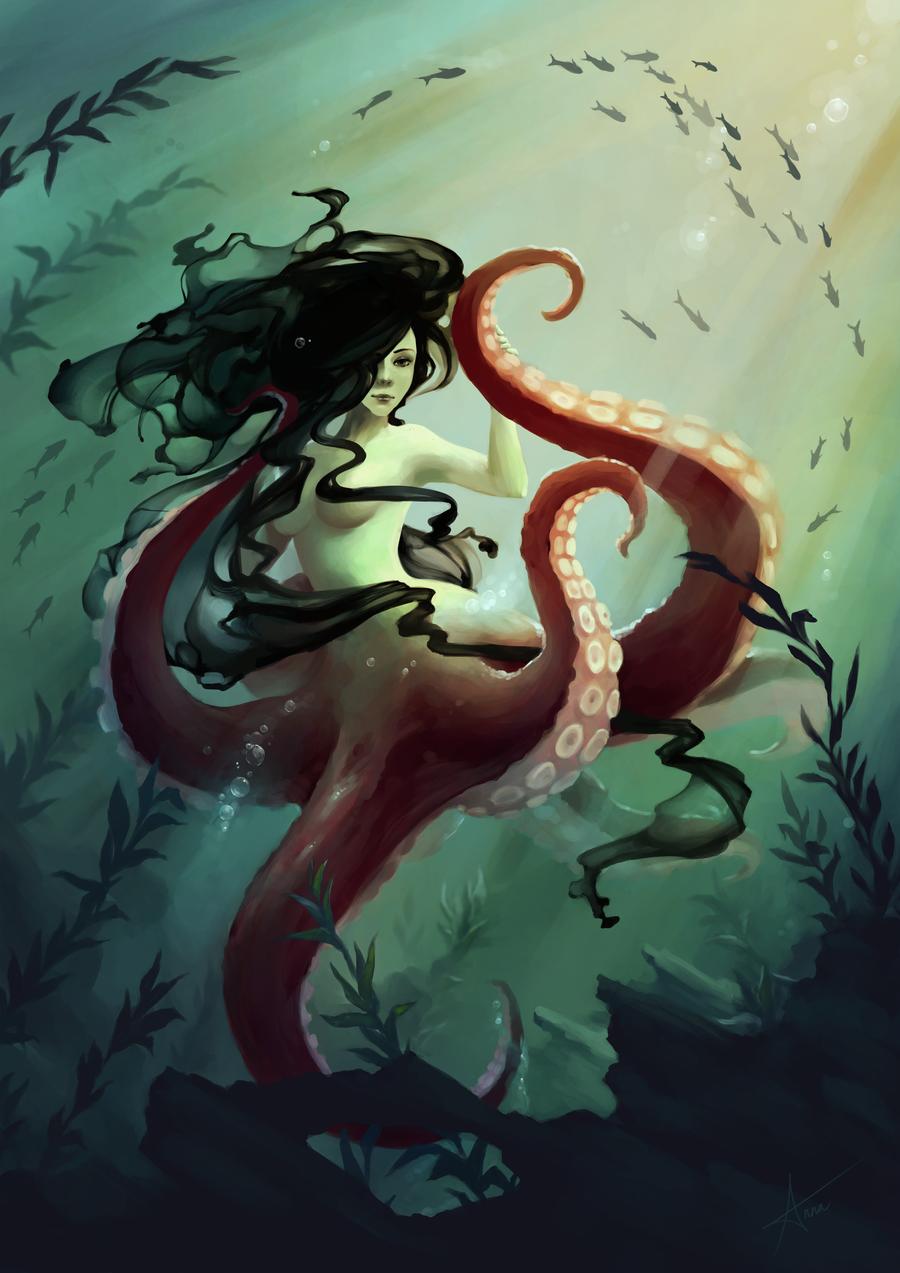 Monster 8 - Octomaid by Myrmirada