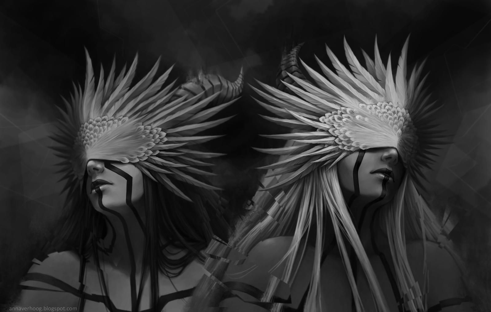 Twins by Myrmirada