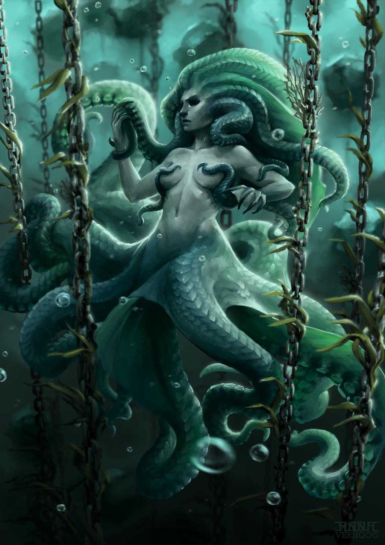 Octomaiden by Myrmirada