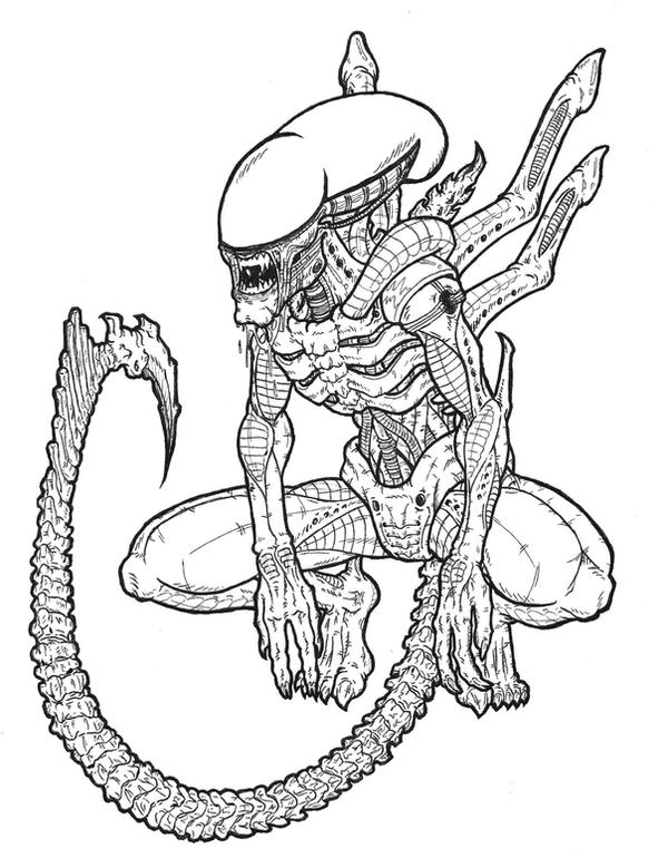Xenomorph coloring pages printable coloring pages for Xenomorph coloring pages
