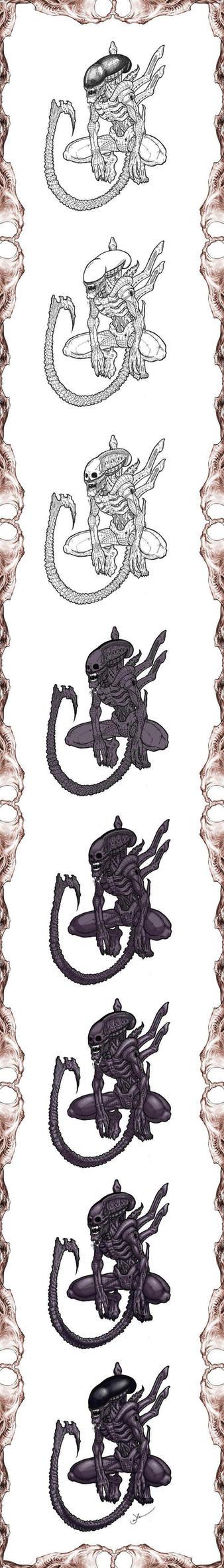 alien wip by Infernauta