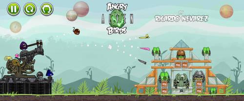 Angry Alien Birds vs Pigdators by Infernauta
