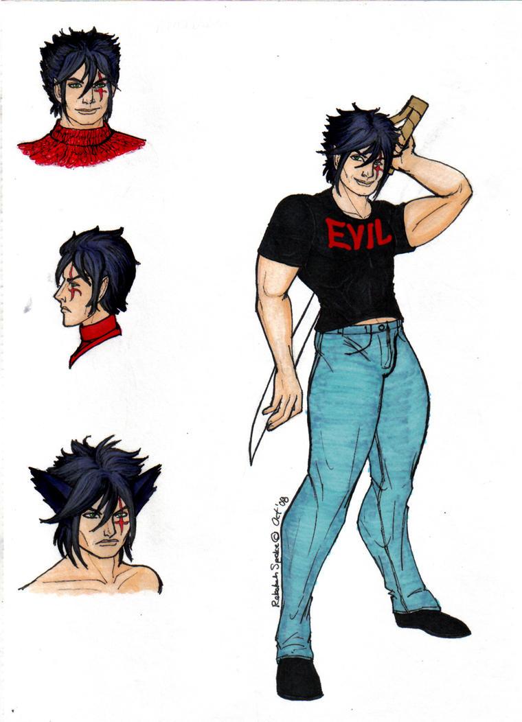 Character sheet fanart of Cale/Anubisu
