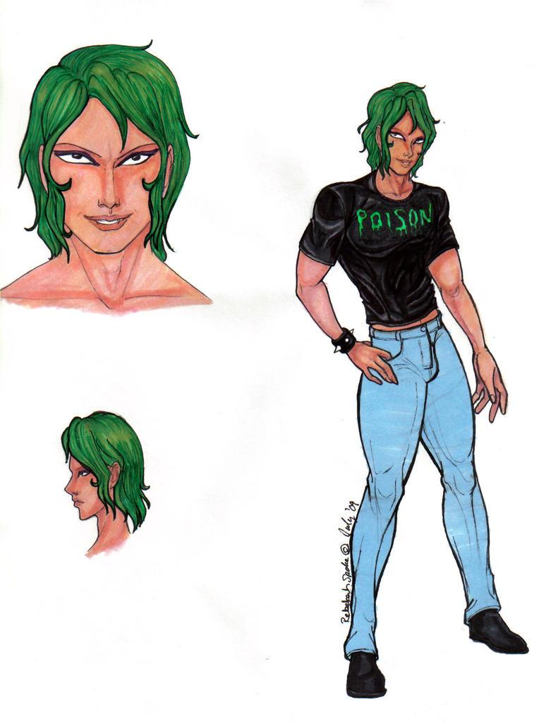 Character sheet fanart of Sekhmet/Naaza.