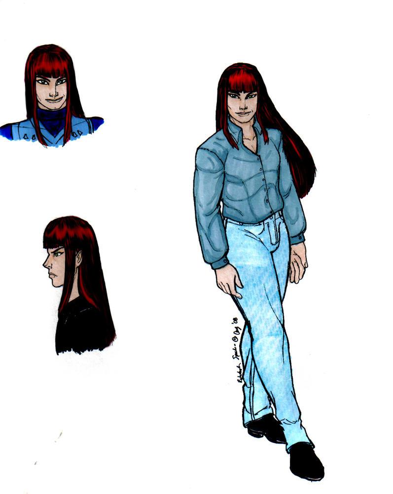 Character sheet fanart of Anubis/Shuten