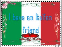 Italian friend -stamp- by BrookeCPhotography
