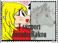 InvaderRakou -stamp- by BrookeCPhotography