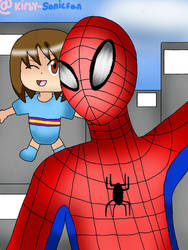 Spider-Man and KY Parker for Beatlesfan15 by Kirby-Sonicfan