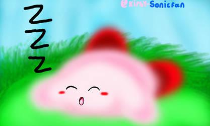 Kirby Sleeping remake by Kirby-Sonicfan