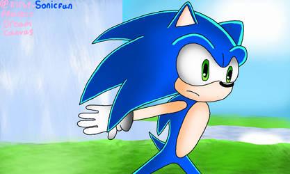 Sonic Running by Kirby-Sonicfan