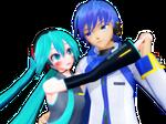 [MMD] Let's Dance (Miku x Kaito)