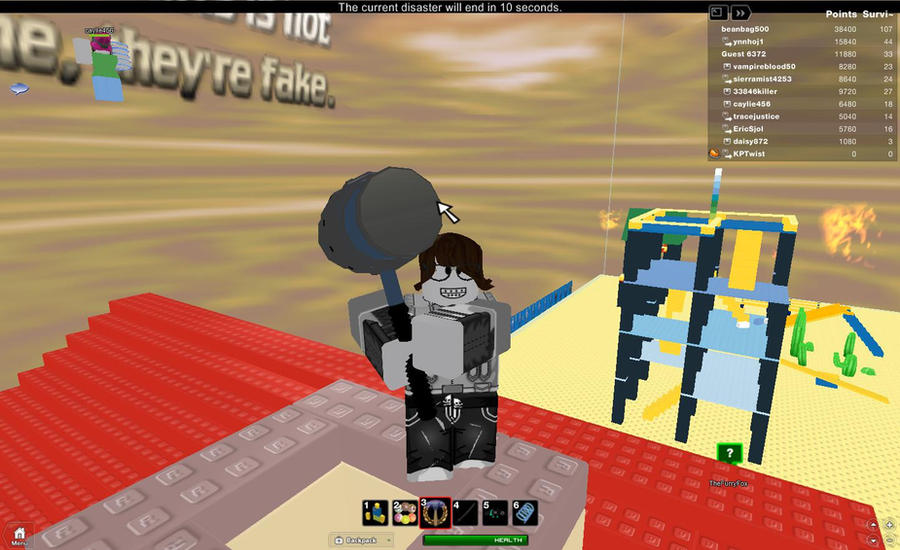 roblox survive 90 disasters by beanbag500