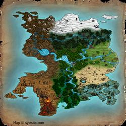 Sylestia World Map - Commission