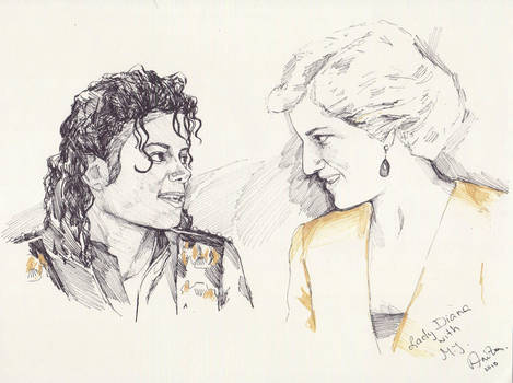 MJ and Lady Di