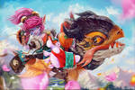 Tristana Dragontrainer League of legends by Tigrsasha