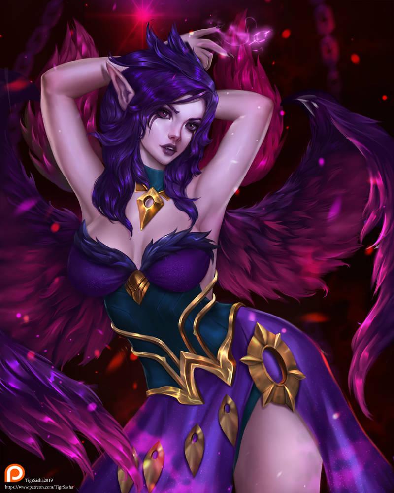 Morgana League of legends by Tigrsasha