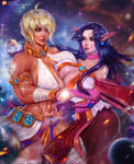 Commission Magic Goddess Ginna and Her Wife Sinny