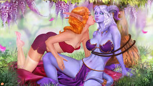 SfwNight Elf and Death-knight Draenei