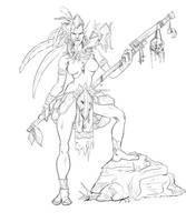 Troll from warcraft fan art by Halimunali