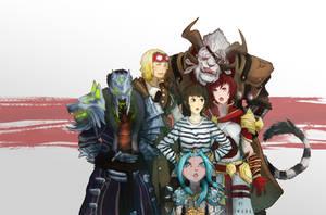 Guild Wars 2 character fanart commission by Halimunali