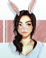 Bunny Portrait By Halimunali by Halimunali