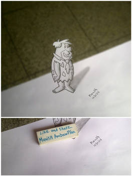 3D Fred Flintstone Sketch