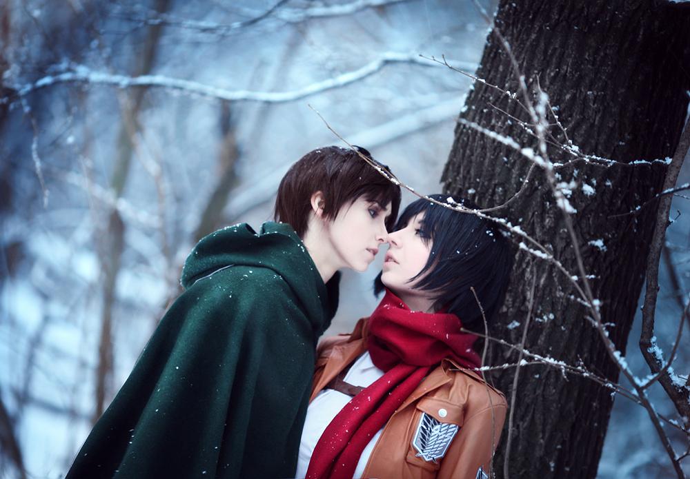 Eren Jaeger/Mikasa Ackerman by lKainl
