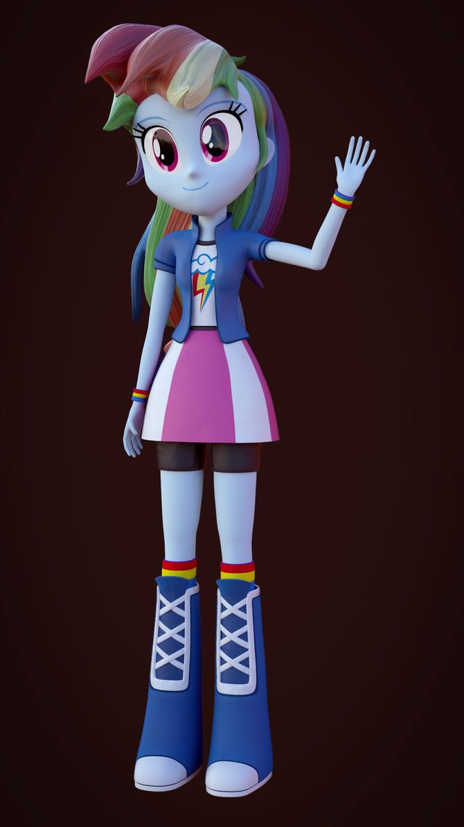 Rainbow Dash EQG Blender Test by rjrgmc28