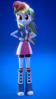 Rainbow Dash 'Awesome' (EQG Blender)