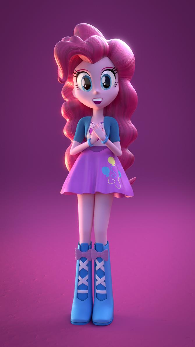 Pinkie Pie 'Relieved' (EQG Blender) by rjrgmc28