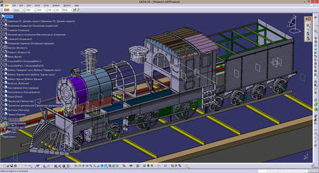 Engineering of a full-size locomotive model by car2ner