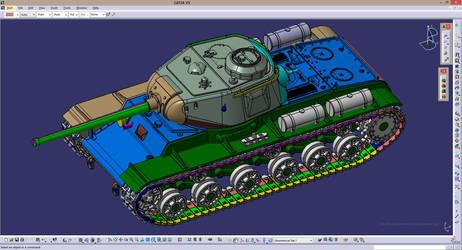 Soviet tank KV-85 by car2ner