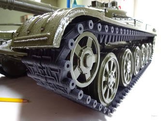 The scale model of the T-72 tank
