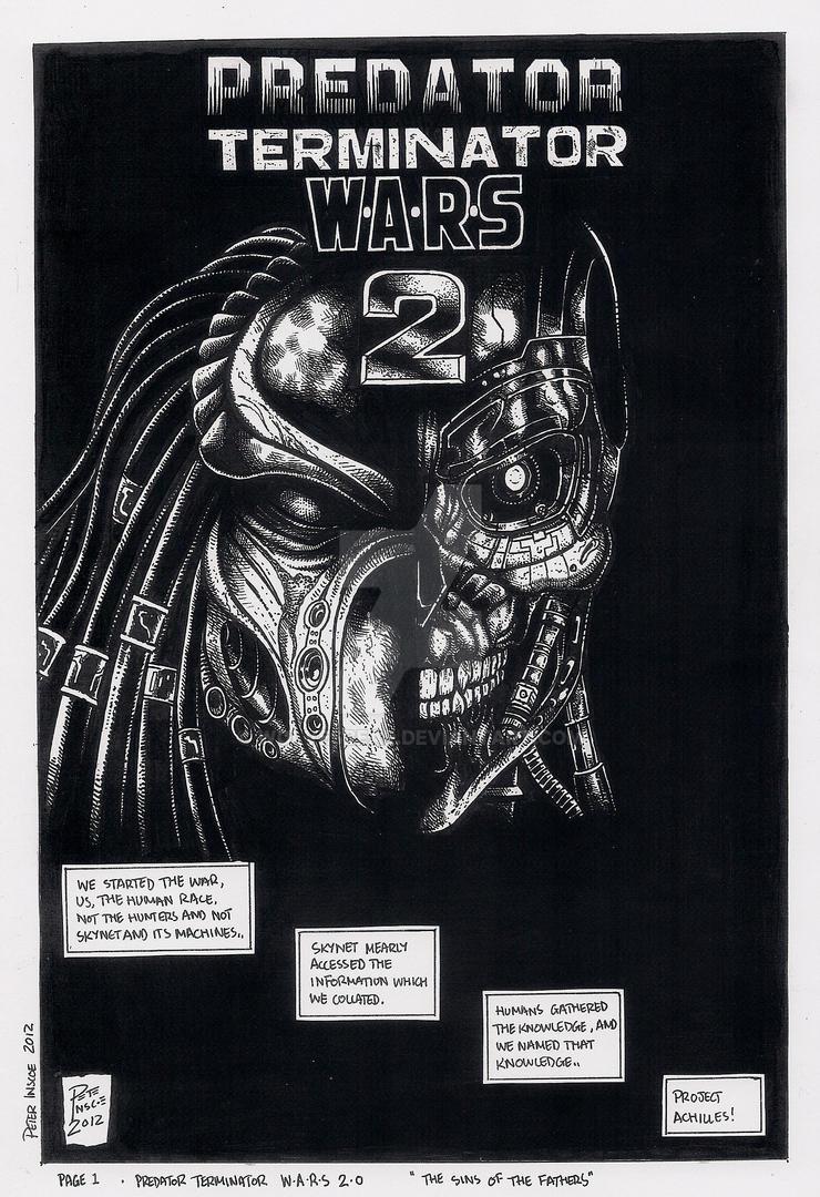 Predator Terminator Wars 2.0 page 1 by wolvesbear