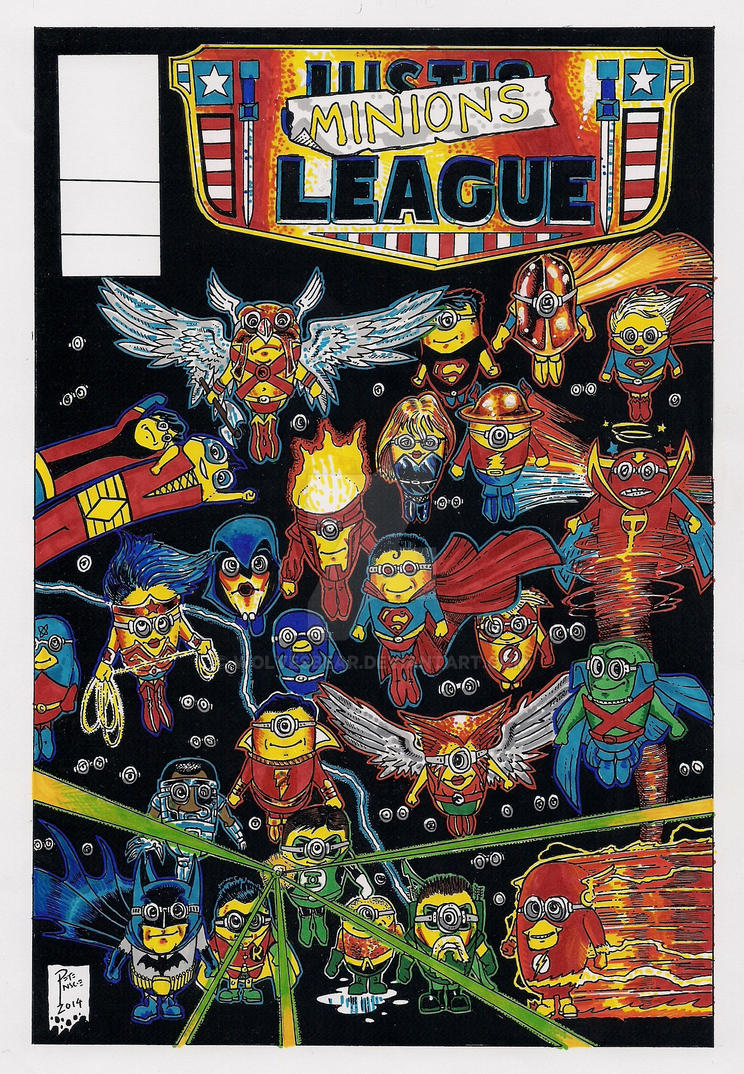 Minions League - Despicable Me 3 (colour) by wolvesbear