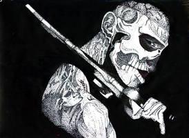 Pointillism - Rick Genest
