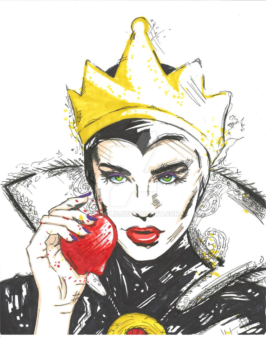 Disney Villains 1 - The Evil Queen by dlwilie on DeviantArtDisney Evil Queen Art