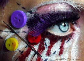 Dead Doll Make-up by PixieCold