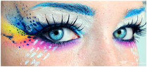 Crazy Rainbow Make up + Tutorial