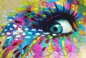 Crazy Artist Make Up by PixieCold