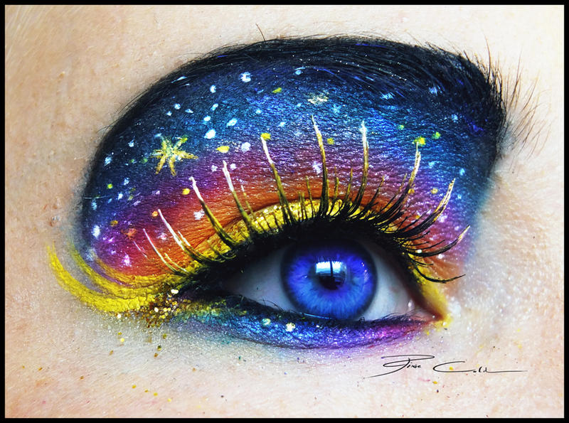 Galaxy Girl Make Up + Tutorial! by PixieCold