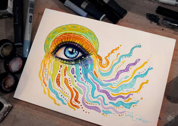 Jell(eye)fish by PixieCold