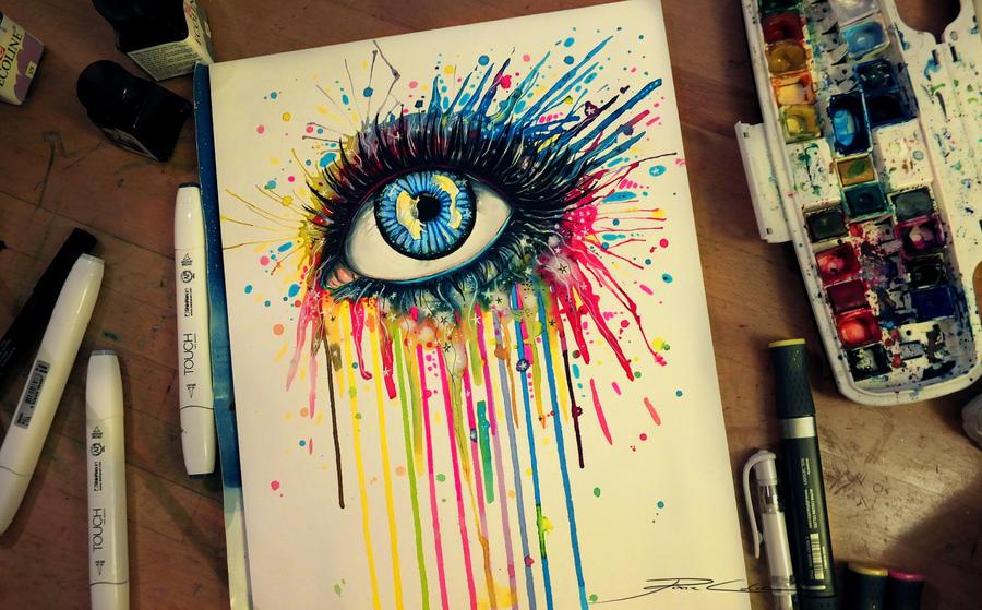 Rainbow splash by PixieCold
