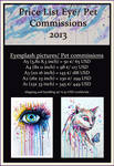 Price List 2013 by PixieCold
