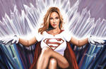 SUPERGIRL IN THE FORTRESS OF SOLITUDE